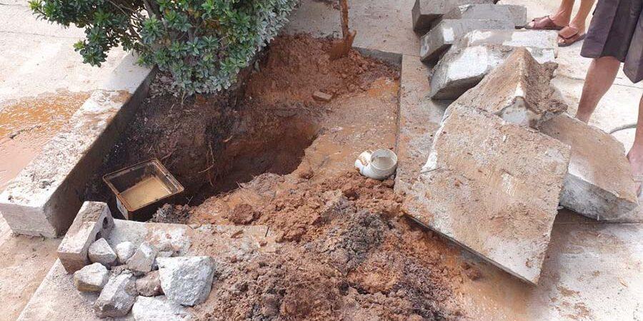 burst water main repair Buderim